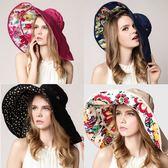(全館一件免運費)DE shop -(SH-341)大帽沿可拆可折疊遮陽帽 防曬帽