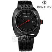 BENTLEY 賓利 / BL1681-30111 / 藍寶石水晶 日期 日本機芯 德國製造 不鏽鋼手錶 鍍黑 43mm