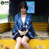 cosplay 夏季新款女裝日系開衫外套 COS復古鳳凰印花日常和服上衣 DR19730【彩虹之家】