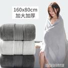 浴巾家用純棉吸水速干不掉毛男女裹巾情侶款一對全棉大款超大號 【優樂美】