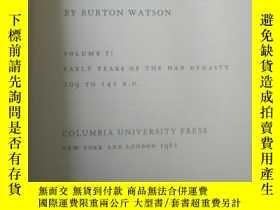 二手書博民逛書店【罕見】1961年出版 史記英文版 漢代部分 records of the grand historianY2