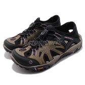 Merrell 戶外鞋 All Out Blaze Sieve 運動鞋 越野 登山 咖啡 黑 休閒鞋 涼拖鞋 女鞋【PUMP306】 ML12730