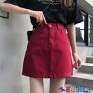 牛仔短裙 牛仔短裙女夏季韓版chic高腰顯瘦復古港味學生百搭A字半身裙潮寶貝計畫 上新