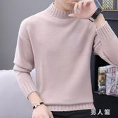 高領毛衣冬季半高領韓版寬鬆加厚針織衫純色線衣潮流秋衣 zm9449『男人範』