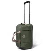 旅行行李袋-帆布手提大容量可登機拉桿包4色73b21【時尚巴黎】