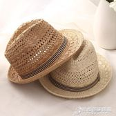 兒童帽 風彩親子爵士帽子 潮英倫禮帽夏天男士巴拿馬草帽 兒童沙灘太陽帽 時尚芭莎