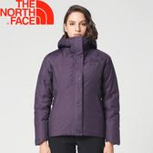 【The North Face 美國 女款 550FP羽絨防水外套《深紫》】369J/防水/保暖/腰身★滿額送