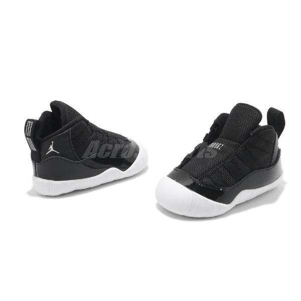 Nike 籃球鞋 Air Jordan 11 Retro Crib Bootie 黑 紅 童鞋 小童鞋 幼童 嬰兒 運動鞋【ACS】 CI6165-011