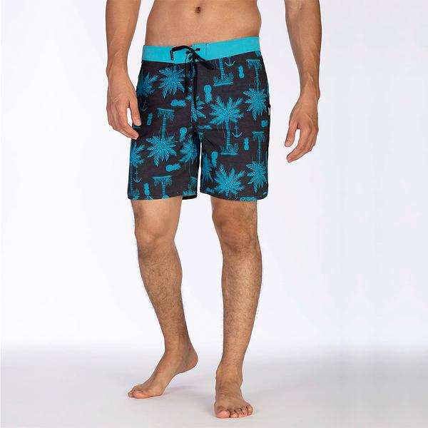 Hurley M HRLY PHNTM ASYLUM 18 BDST BLACK 海灘褲-PHANTOM