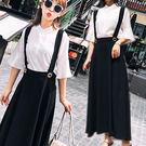 韓風喇叭短袖襯衫+吊帶裙 兩件組 S-L碼【D927469】