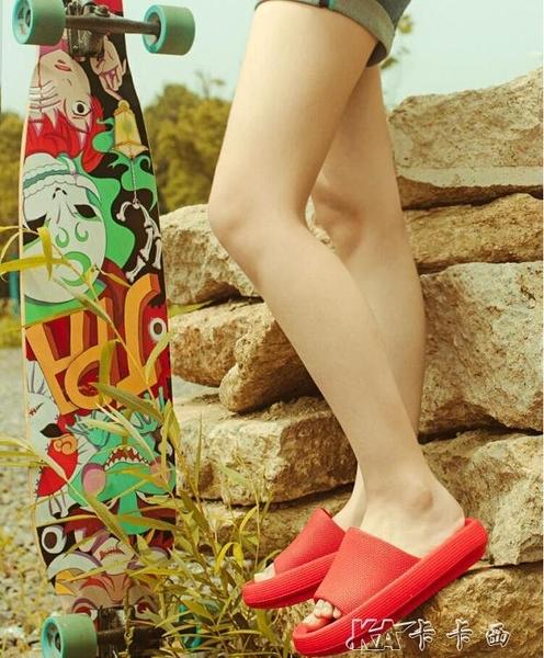 夏季外穿涼拖鞋超厚底潮ins網紅女防滑軟底室內居家用男情侶 【全館免運】