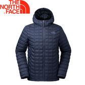 【The North Face 美國 男款 ThermoBall 保暖兜帽外套《深藍》】3666/暖魔球/輕便打包/可套接★滿額送