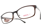 Alphameer 光學眼鏡 AM3505 C48 (透棕-珠光棕) 時尚潮流款 塑鋼眼鏡 # 金橘眼鏡