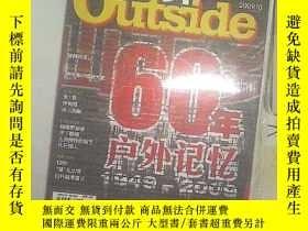 二手書博民逛書店戶外罕見OUTSIDE 2009 10Y203004
