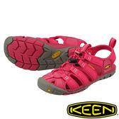 【KEEN 美國】Clearwater CNX女護趾水陸兩用鞋『紅』1008769 健行|涼鞋|自行車|溯溪|健走|海邊