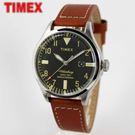 【萬年鐘錶】TIMEX INDIGLO冷光顯示面板 美國RED WING SHOES 限量聯名款真皮錶 銀x黑 42mm 2P84000