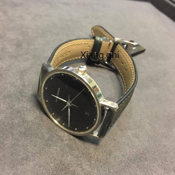 喬治傑生(GEORG JENSEN)-KOPPEL 421-32MM黑色錶盤經典腕錶