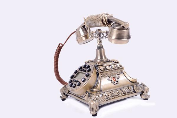 高檔歐式電話機複古田園時尚創意電話機仿古家用固定座機電話機-afd004