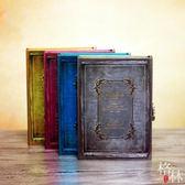 創意精美盒裝密碼帶鎖筆記本學生禮物品復古加厚 【格林世家】
