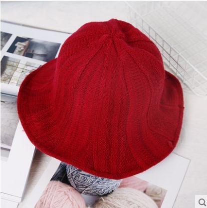 漁夫帽子女士秋冬天盆帽羊毛混紡針織帽保暖韓版可折疊日擊百搭潮 限時熱賣