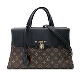 【台中米蘭站】Louis Vuitton Venus 經典花兩用手提/肩背/斜背包(M41737-黑)