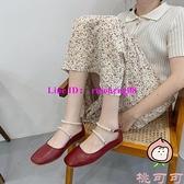 平底豆豆鞋女鞋子春季百搭珍珠晚晚溫柔仙女氣質【桃可可服飾】