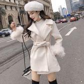 毛呢外套設計感女小眾秋冬2019新款小個子赫本chic呢子大衣森女冬毛呢外套伊人閣