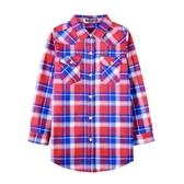 『小鱷魚童裝』長版格子襯衫(08號~18號)532153