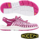 KEEN 1016894暗紅/粉 Uneek 女專業戶外護趾編織涼鞋 繩編鞋/水陸兩用鞋/運動健走鞋