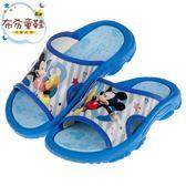 《布布童鞋》Disney迪士尼歡樂米奇藍色兒童拖鞋(16~18公分) [ D9B370B ]