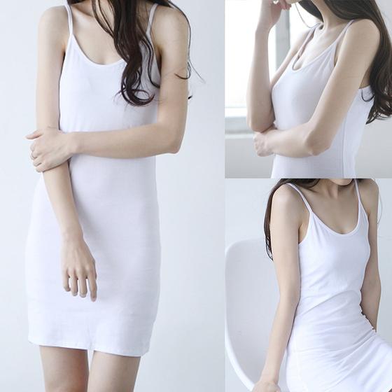 2020夏季新款內搭中長款吊帶背心打底裙女性感修身襯裙百搭打底衫