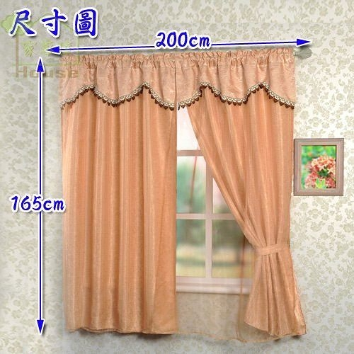 [ 家事達 ] NO- ONE 春舞三層半腰窗簾 200*165