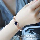 歐美時尚鍍玫瑰金手鐲女飾品鏤空經典流行首飾日韓國鈦鋼開口手鍊 時尚教主