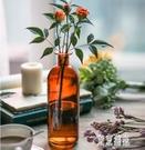 歐式玻璃花瓶富貴竹鮮花干花水培簡約現代透明插花瓶客廳落地擺件 LJ5201【極致男人】
