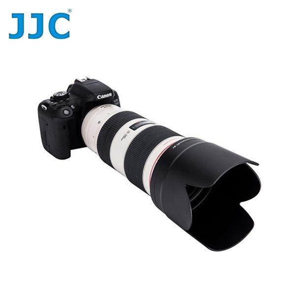 我愛買#JJC副廠Canon遮光罩ET-87遮光罩(黑色)可倒裝ET-87蓮花型遮光罩EF 70-200mm f2.8L IS USM遮陽罩II小黑