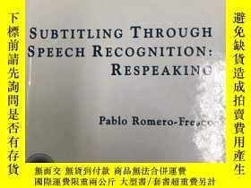 二手書博民逛書店Subtitling罕見Through Speech Recog