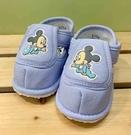 【震撼精品百貨】Micky Mouse_米奇/米妮 ~台灣製正版兒童迪士尼寶寶學布鞋-藍米奇(12~14號)#18846