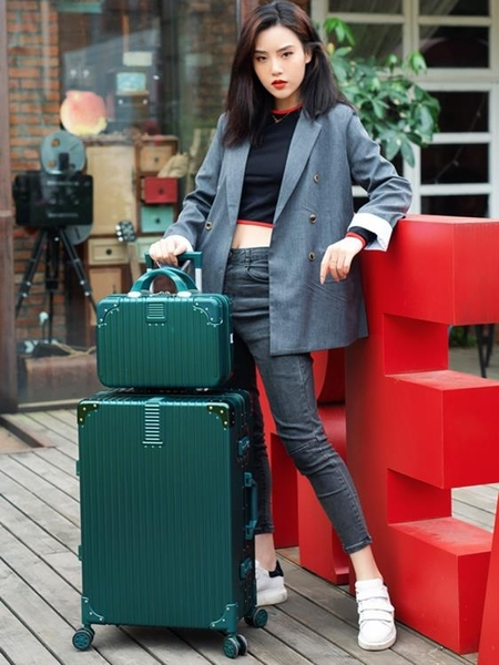 行李箱子母行李箱網紅萬向輪旅行箱大容量拉桿箱男密碼箱皮箱女箱LX 晶彩 99免運