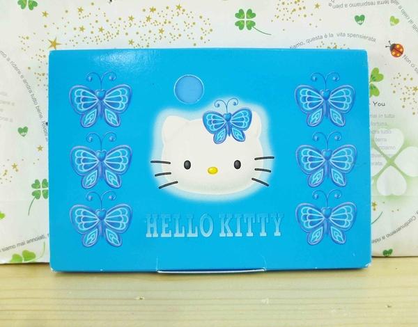 【震撼精品百貨】Hello Kitty 凱蒂貓-KITTY吸油面紙-藍蝴蝶圖案