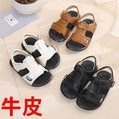 夏季新款男童涼鞋韓版真皮男寶寶涼鞋