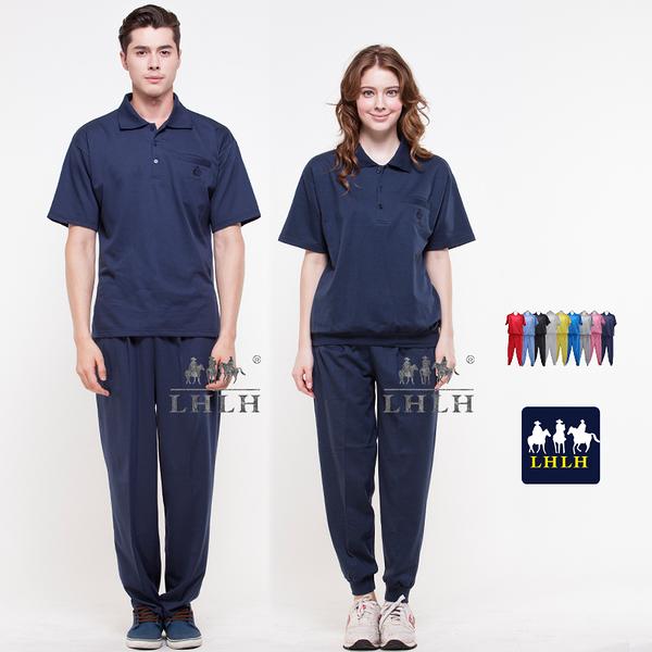 深藍色 丈青 運動服 休閒服套裝 團體服 短袖 女 男 Polo衫 【現貨】