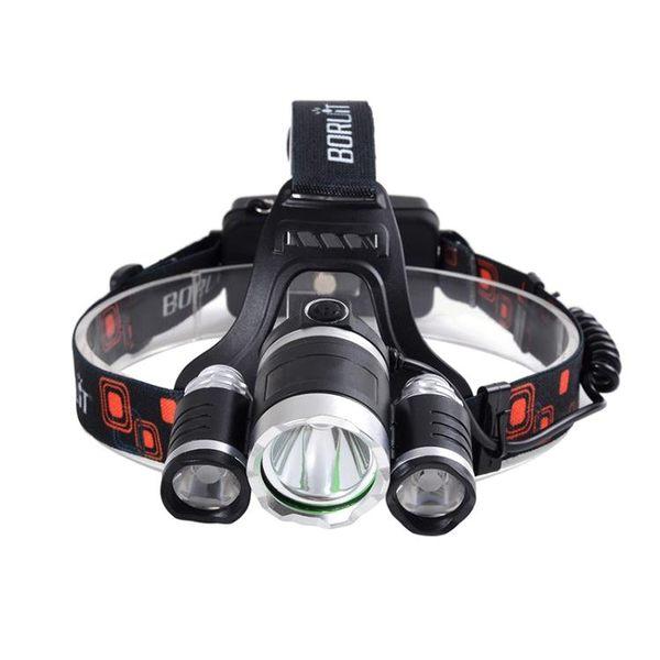 三合一頭燈強光高亮礦燈充電式戶外T6釣魚頭燈頭戴式手電筒釣魚燈 酷我衣櫥