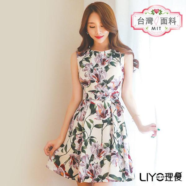 LIYO理優MIT印花修身洋裝E726022