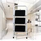 金德恩 台灣製造 加大鋼鐵止滑三階平台折疊梯/家用梯/人字梯/樓梯/階梯/洗車凳/台階凳