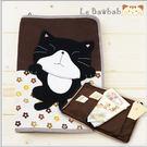 綜合包款~Le Baobab日系貓咪包 黑貓咪媽媽手冊/萬用袋/收納袋/拼布包包