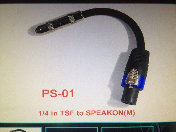 凱傑樂器 PS-01 1/4 in TSF to SPEAKON(M)轉接頭