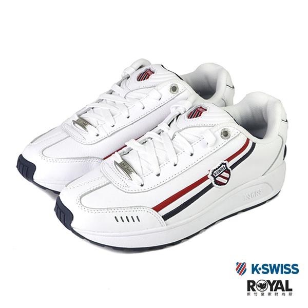 K-swiss Enstev 白色 皮質 休閒運動鞋 男女款 NO.B1275-J0292【新竹皇家 0914-130、9914-130】