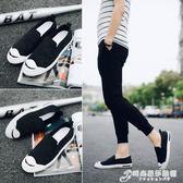夏季新款男士帆布鞋韓版休閒板鞋學生百搭一腳蹬懶人布鞋潮流男鞋