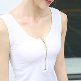 新款大碼純棉打底工字系吊帶背心女夏修身顯瘦外穿簡約百搭上衣Mandyc