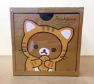 【震撼精品百貨】Rilakkuma San-X 拉拉熊懶懶熊~積木置物盒-咖啡色底